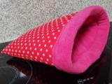 Kuschelsack Rot Sterne / Pink