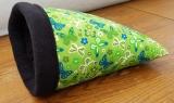 Kuschelsack Schmetterlinge grün / schwarz