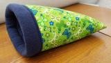 Kuschelsack Schmetterlinge grün / dunkel blau