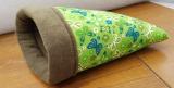 Kuschelsack Schmetterlinge grün / dunkel grün