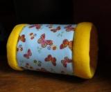Kuschelrolle Schmetterlinge/Gelb